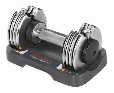 WSAW12508-K 25 lbs. Dumbbell with Adjustable Speed Weight Powers  Comfort Grip Handle  and Plastic Storage