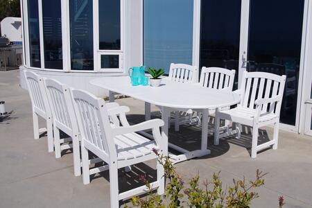 V1335SET15 Bradley Outdoor 7-Piece Wood Patio Dining Set With Extension Table In
