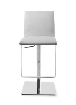 BS1043P-GRY Gia Barstool  Gray Faux leather  adjustable Height   chrome 482271
