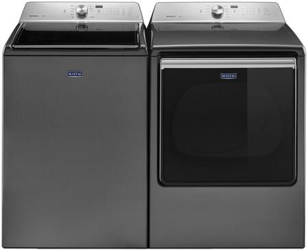 Metallic Slate Top Load Laundry Pair with MVWB835DC 28