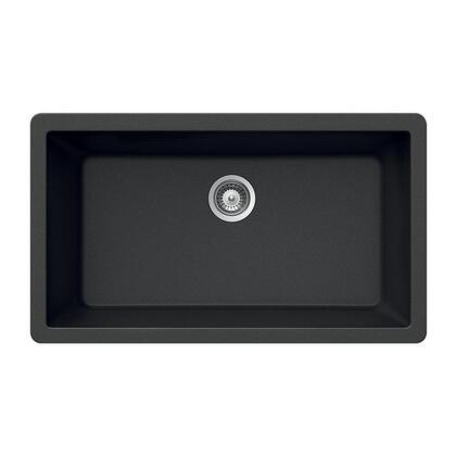 V-100U MIDNITE Quartztone Series Granite Undermount Large Single Bowl Kitchen Sink