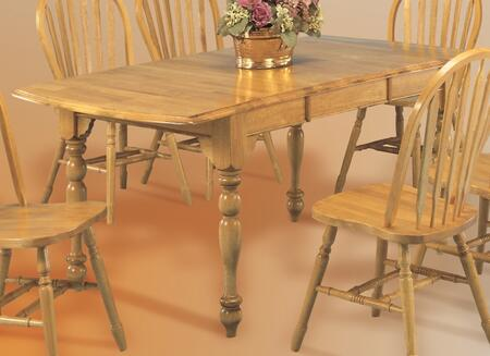 DLU-TDX3472-LO Drop Leaf Extension Dining Table in Light Oak