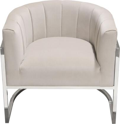Pandora_Collection_PANDORACHMD_Accent_Chair_with_Velvet_Upholstery__Channel_Tufting__Silver_Stainless_Steel_Frame_and_Curved_Back_Design_in
