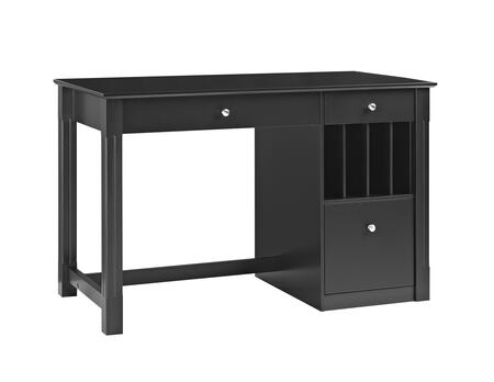 DW48D30BL Home Office Deluxe Wood Storage Computer Desk in