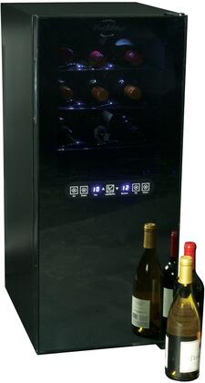 WC24MG 18 inch  Wine Cellar with 24 Bottle Capacity  Dual Zone  Interior Lighting  Digital Temperature Display  in
