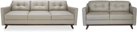 Monika Collection 35903MS1308SL 2-Piece Living Room Set with Sofa and Loveseat in