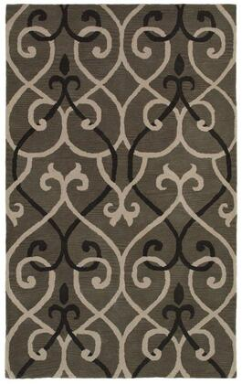 Opuop811800330508 Opus Op8118-5 X 8 Hand-tufted 100% Wool Rug In Gray  Rectangle