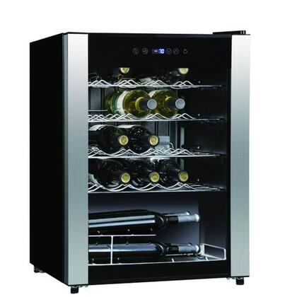 WHS-116WE 3.1CF 33 Bottle Wine Cooler with Touch Screen Electronic Control  Slide-out Adjustable Shelves  Imperious Light on Top  Safety See-through Door and