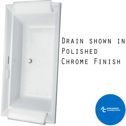 ABR626S#01DCP Aimes Series Drop-In Airbath Tub with Cast Acryclic Construction  Slip-Resistant Surface  and Polished Chrome Bath Drain