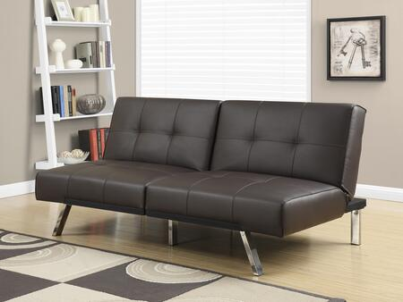 "I 8936 70"" Futon with Chrome Metal Feet  Multiple Positions and Split Back Design in"