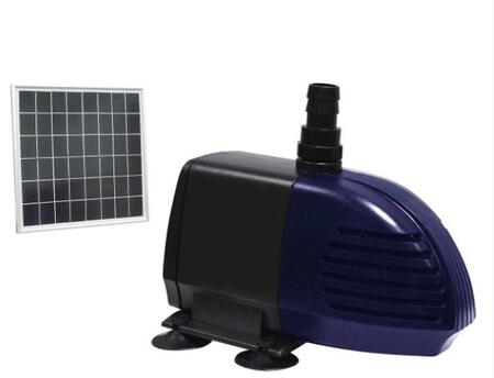 PYP280HB Hybrid Powered 280GPH Garden Pump w/ solar panel and