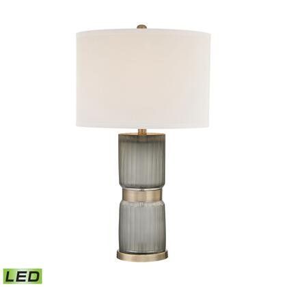 D2911-LED Cotillion 1 Light LED Table Lamp in Grey And Antique Brass