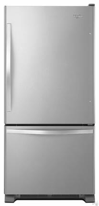 Whirlpool 18.5 Cu. Ft. Bottom-Freezer Refrigerator Stainless Steel WRB329DMBM