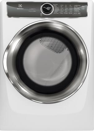 """EFMG627UIW 27"""""""" Gas Front Load Dryer with 8 cu. ft. Capacity  Perfect Steam with Instant Refresh  IQ Touch Controls  15 Minute Fast Dry  in"""" 903922"""
