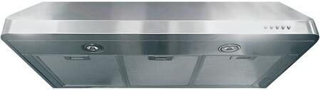 "VEHOOD3610 36"" Under Cabinet Range Hood with 600 CFM Power  2 LED Lights  3 Fan Speeds and Rounded Seamless Edges  in Stainless"