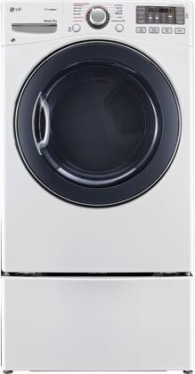 "DLEX3570W 27"""" 7.4 Cu. Ft. Ultra Capacity Front Load Steam White Electric Dryer with WDP4W"" 718973"