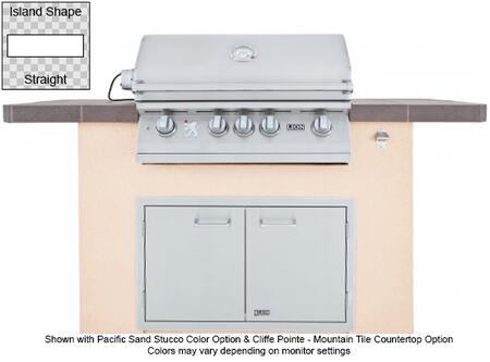 90101 Superior Q L75000 Premium Stainless Steel Grill with Stucco Base  Tile Countertop  Stainless Steel Double Door with Towel Rack  GFCI Outlet and Bottle