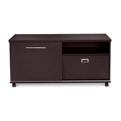523-ESP Espresso Low Side Cabinet with Filing & Sliding