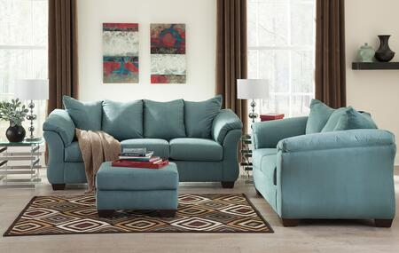 Darcy 75006SLO 3-Piece Living Room Set with Sofa  Loveseat and Ottoman in