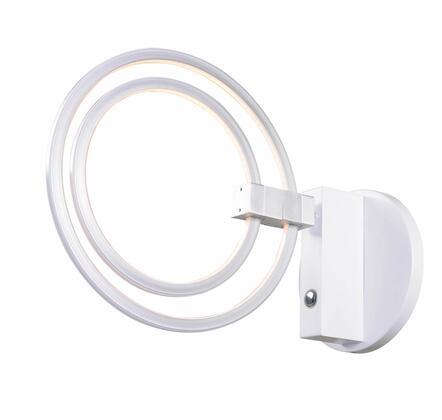 Aurora 93359WH LED Sconce with 12 Watt Integrated LED 1750 Lumens  Touch Switch Dimmer in White