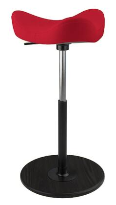 MOVE 2600 DINIMICA 9051 BLK HI BLK 26 inch  - 34 inch  Sit-Stand Chair with Dinimica Upholstery  9051 Color Code  Black Ash Base  High Lift Height and Black Gas