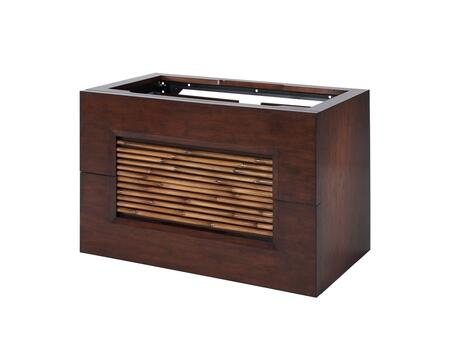 Bambu V-BAMBU-30DB 30 inch  Vanity with Natural Bamboo Accents and Two Large Storage Drawers in Dark