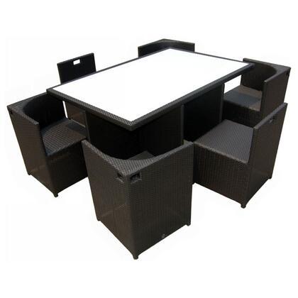Vgcw5051 Outdoor Patio 7 Piece Modern Dining Set: