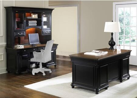 St. Ives Jr Collection 260-HOJ-5JES 2-Piece Executive Set with Executive Desk and Executive Credenza in Chocolate & Cherry