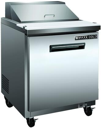 MCR27S Commercial Sandwich Press with 7 cu. ft. Capacity  0.2 HP  300 Watts  1 Shelf  Interior and Exterior in Stainless