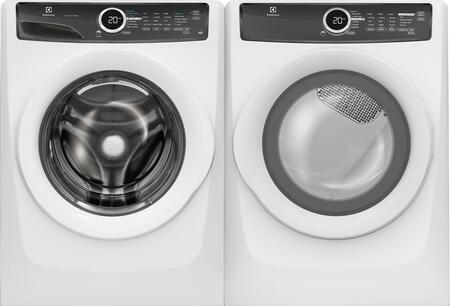 White Front-Load Laundry Pair with  EFLW417SIW 27