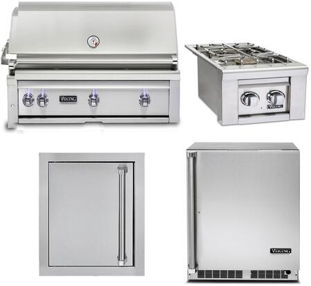 4-Piece Stainless Steel Outdoor Kitchen Package with VQGI5420LSS 42