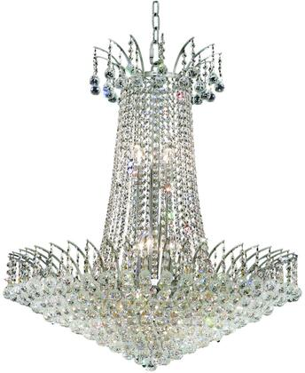 V8031D29C/SA 8031 Victoria Collection Chandelier D:29In H:32In Lt:16 Chrome Finish (Spectra   Swarovski