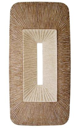 "Rectangular Double Layer Ribbed Wall Plaque 24"" X 12"" X 2' (Set of 2) - Screen Gems SGS4149-76F SGS4149-76F"