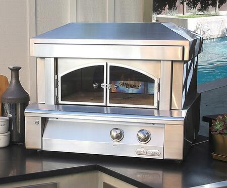 "AXE-PZA-NG 30"" Natural Gas Pizza Oven For Countertop Mounting with 40000 BTU in Stainless"