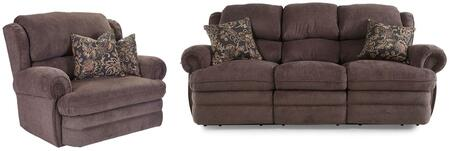 Hancock Collection 203142614124113SR 2-Piece Living Room Set with Sofa and Recliner in Viper
