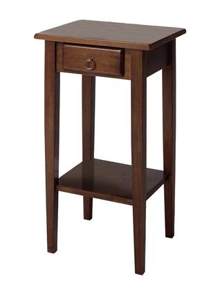 94430 Regalia Accent Table with Drawer and Shelf in Walnut