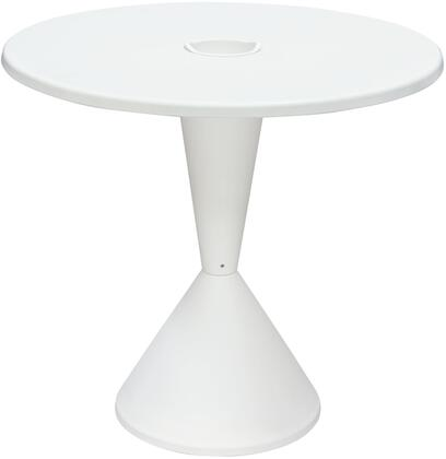 Expo EXPODTWH 31 inch  Round Bistro Table with Polypropylene construction and for Indoor/Outdoor in