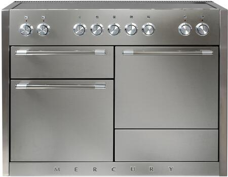 "AMC48INSS 48"" Freestanding Range with 5 Induction Burners 3700 Watt Boost Three Ovens Hi-Fi Knobs Controls 8-Pass 2500 Watt Broiler and Extendable Gliding"
