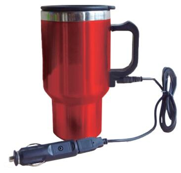 402425 12V USB Travel Mug with Ergonomic Design  Double Wall Vacuum Insulation and Heat-retaining Air-tight Lid in