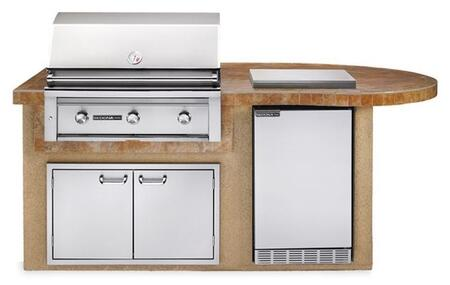 L2600SNG Sedona Deluxe Island Package Includes Sedona Grill  Sedona Outdoor-Rated Refrigerator  Double Side Burner and Door Drawer Combo: