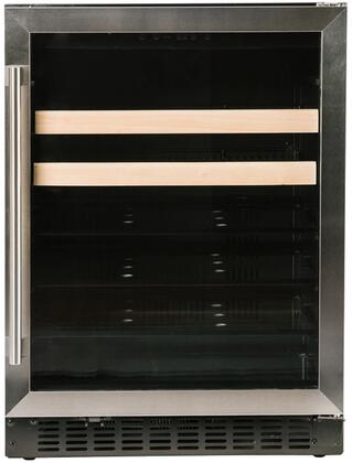 Azure A124BEV-S 24 Beverage Center with Stainless Trim Glass Door