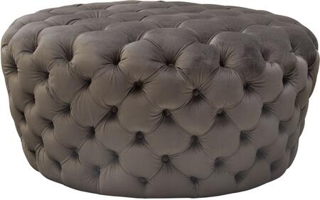"""Posh_Collection_POSHOTDG_36""""_Round_Accent_Ottoman_with_Plush_Velvet_Upholstery_and_Button_Tufting_in_Dusk"""