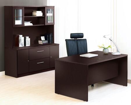 1C100009MES Espresso Executive Office Desk with