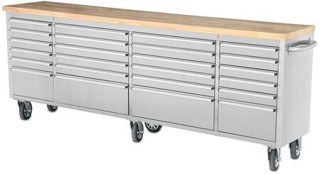 HTC9624W 96 inch  Tool Chest Work Station with 24 Drawers  in Stainless