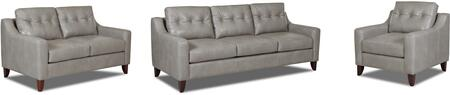 Audrina Collection LTD31600KL3PCSTLARMKIT1P 3-Piece Living Room Sets with Stationary Sofa  Loveseat and Living Room Chair in Steamboat Putty and Powder