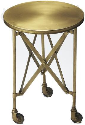 Costigan Collection 1168226 14 Accent Table with Casters  Interlaced Base  Industrial Style and Round Shape and Iron Construction in Antique Gold