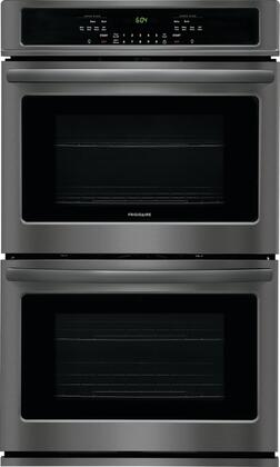 "FFET3026TD 30"""" Double Wall Oven with 4.6 cu. ft. Capacity  Self Clean  Star K Certified  2 Oven Racks  and Halogen Lighting  in Black Stainless"" 800560"