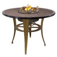 OCT-52B Granite Table Top with Ebony Trim for Island Campfyre Table Sets in