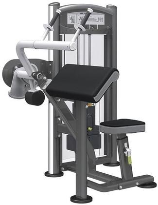 E-5088 Titanium Series 9323 Arm Extension Machine with 150 lbs. Incremental Weight Stack  Military Grade Cables and High-Tech Oval Tubing in Black and