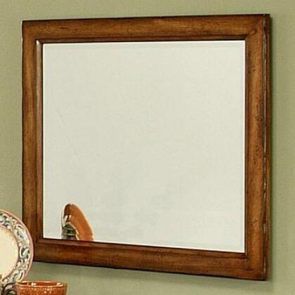 212701 Marissa Beveled Mirror with Solid Cherry Wood Frame in a Cumin Spice